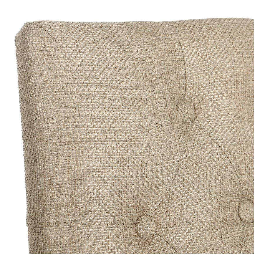Chaise en tissu capitonné ficelle - Albane