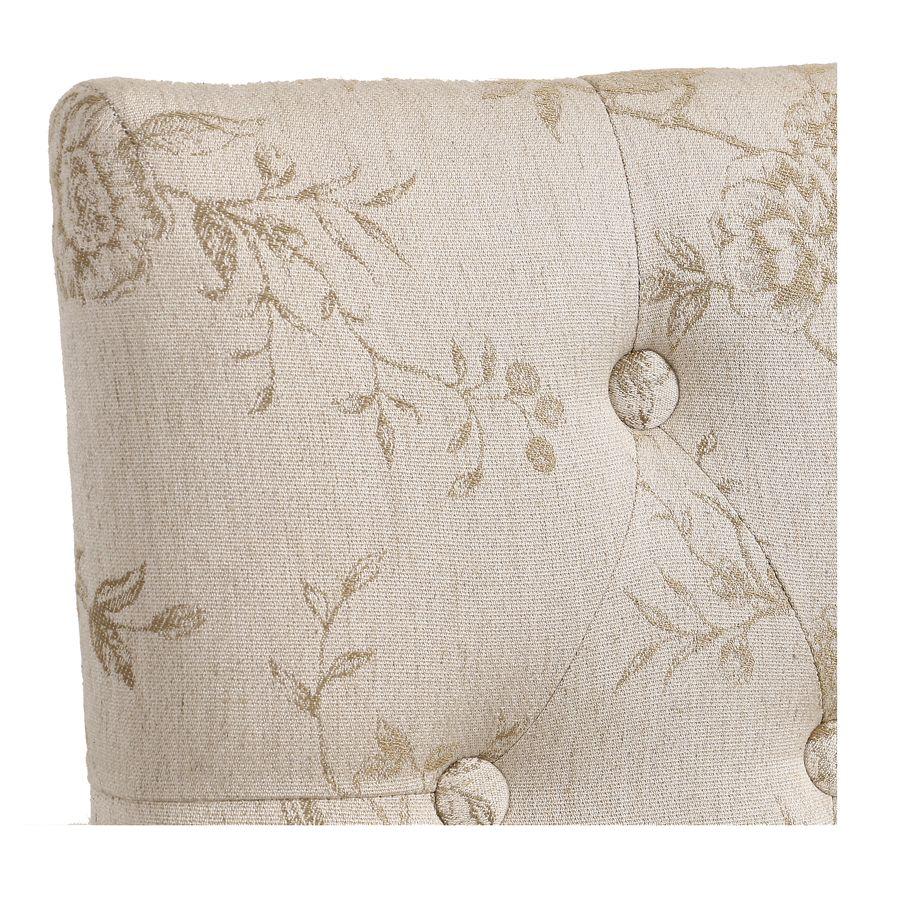 Chaise capitonnée en tissu paradisier - Albane