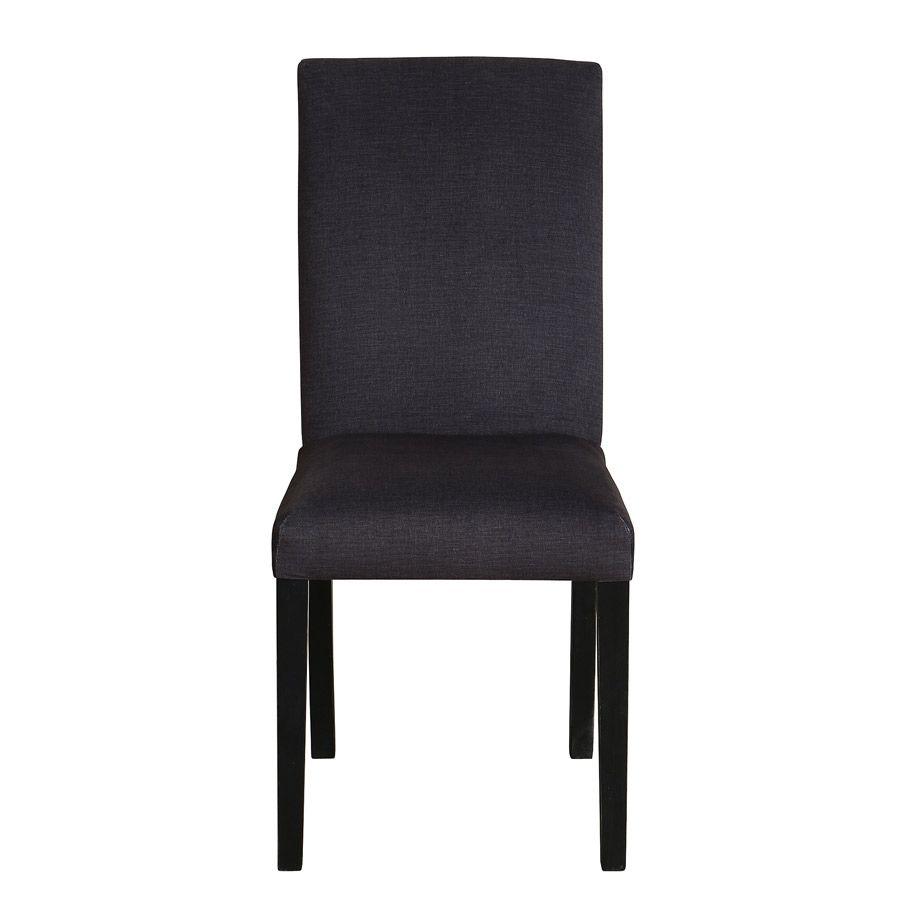 Chaise en hévéa massif et tissu - Romane