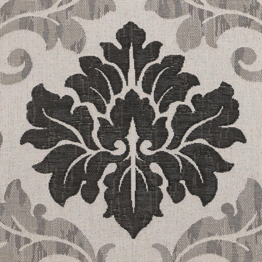 Chaise en hévéa massif et tissu arabesque - Romane