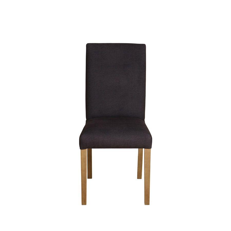 Chaise en frêne et tissu gris anthracite - Romane