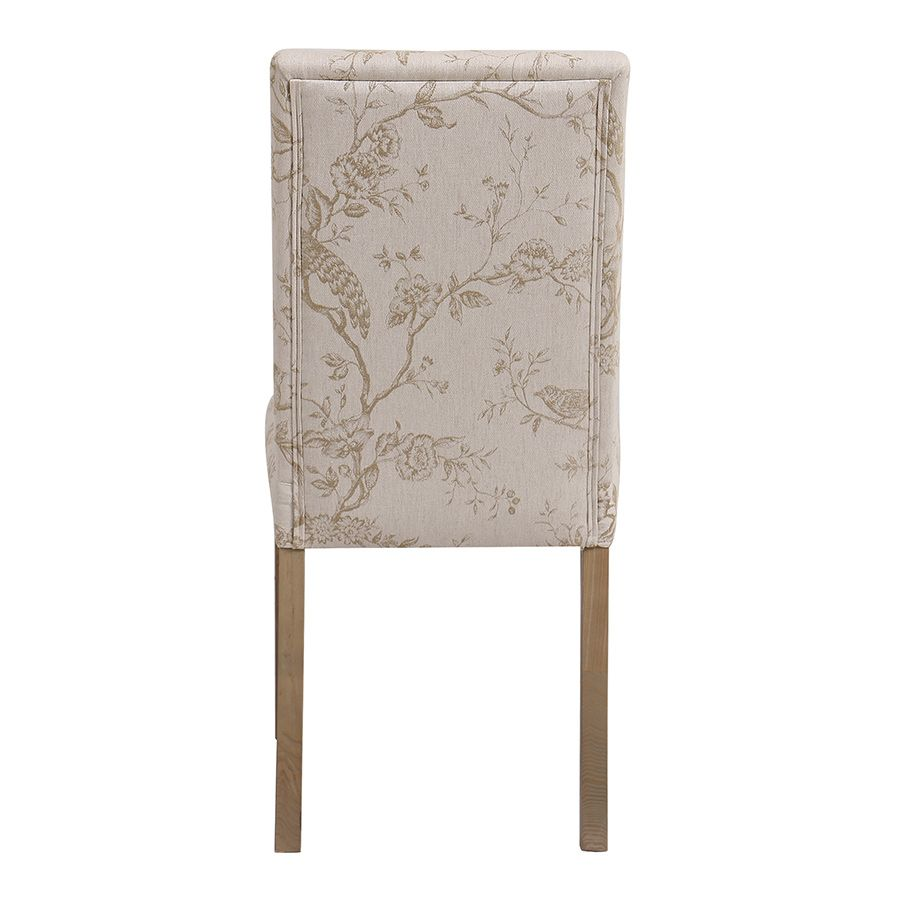 Chaise en frêne massif et tissu Paradisier - Romane