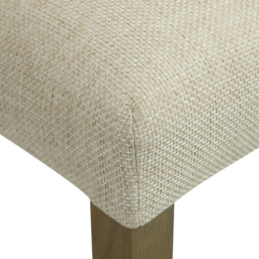Chaise en frêne et tissu beige ficelle - Romane