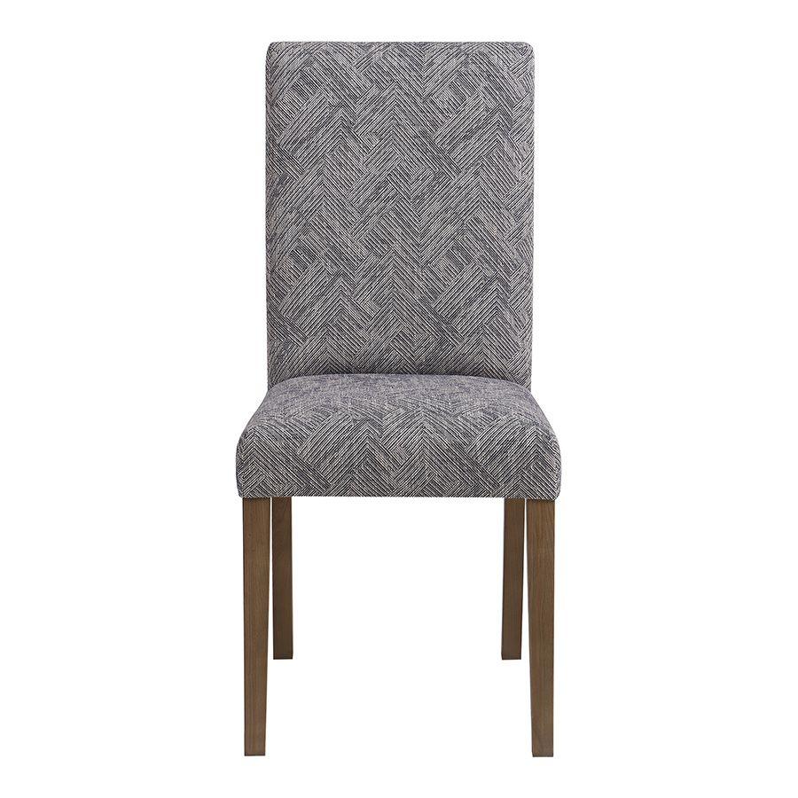 Chaise en frêne massif et tissu Mosaïque indigo - Romane