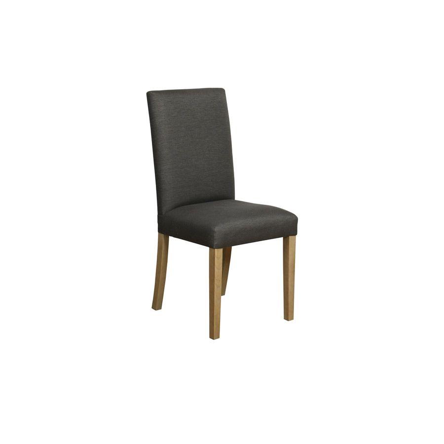 Chaise en frêne massif et tissu noir - Romane