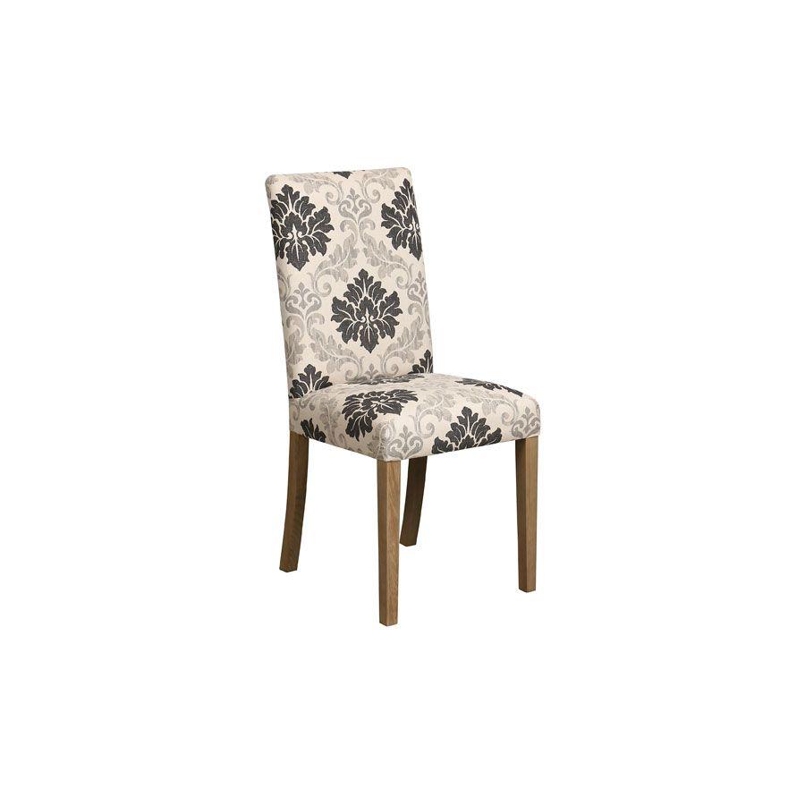 Chaise en tissu beige et frêne massif - Romane