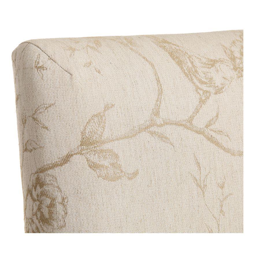 Chaise en tissu paradisier et hévéa massif - Romane