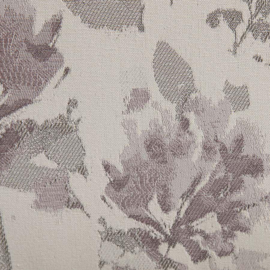 Chaise en hévéa massif et tissu fleurs opaline - Romane