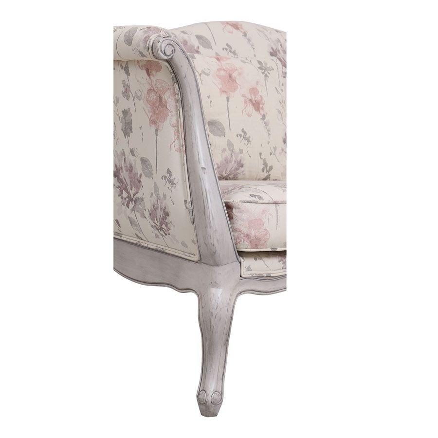 Banquette 2 places en tissu fleurs opalines - Apolline