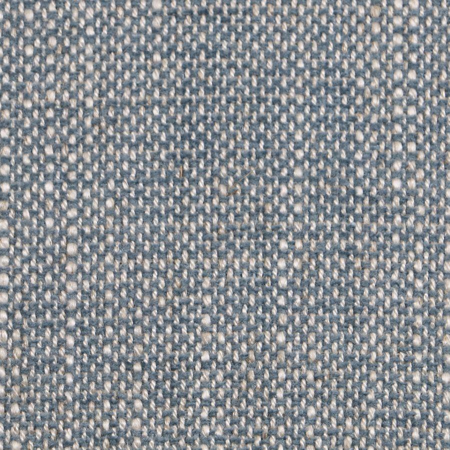 Banquette 2 places en frêne massif et tissu bleu chambray - Apolline