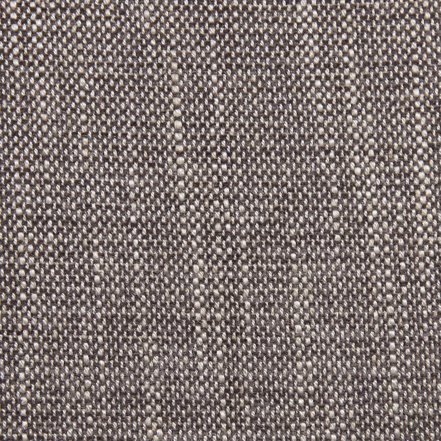 Banquette 3 places en hévéa et tissu gris chambray - Constance