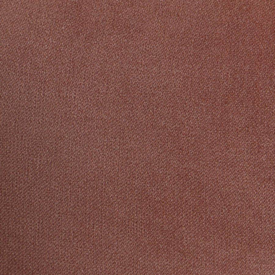 Banc ottoman en frêne et velours rose - Gaspard