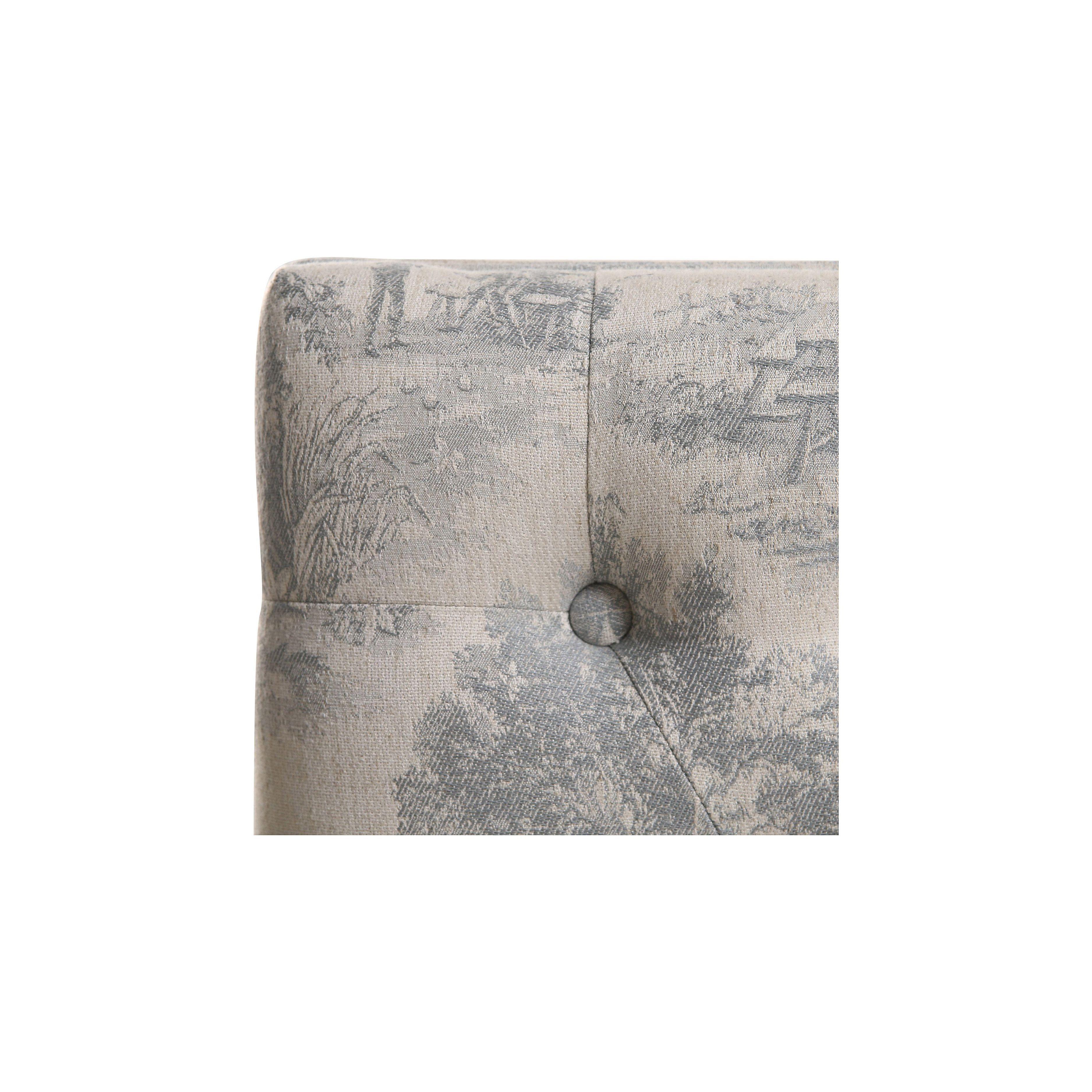 Banc ottoman en hévéa tissu toile de Jouy - Gaspard