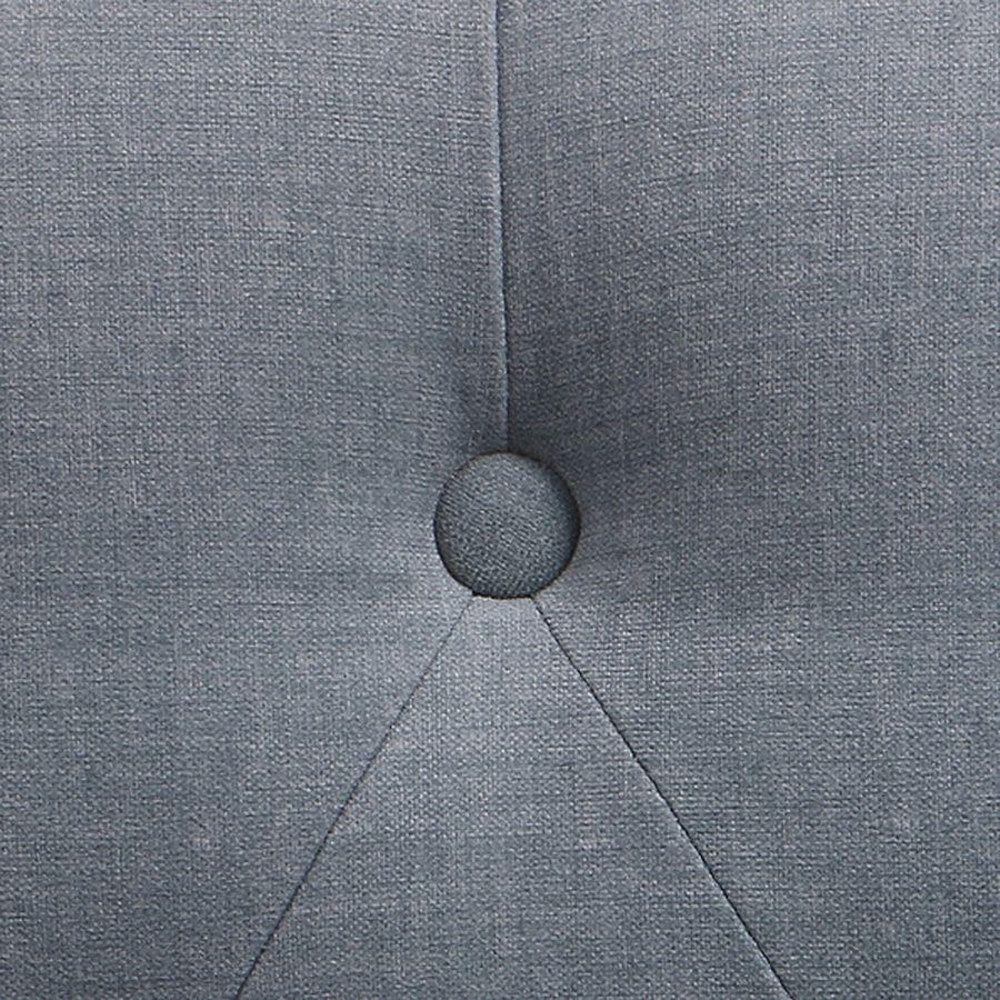 Fauteuil crapaud en tissu Vert sauge et pied gris argenté - Bastien