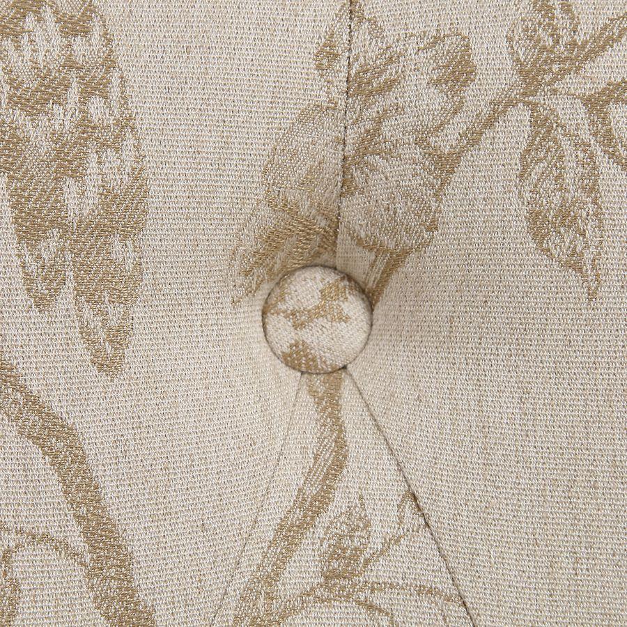 Fauteuil crapaud en hévéa noir et tissu paradisier - Bastien