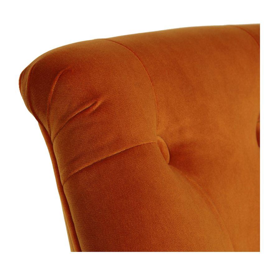 Fauteuil crapaud en tissu velours safran - Bastien