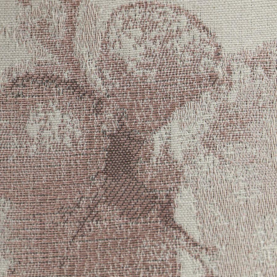 Fauteuil crapaud en tissu fleurs opaline - Bastien