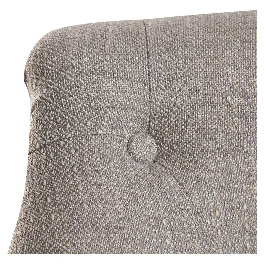 Fauteuil crapaud en tissu losange gris - Bastien