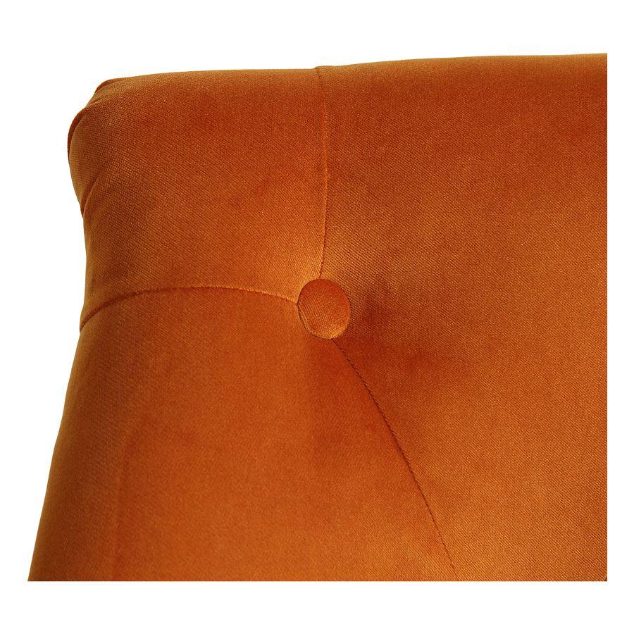 Fauteuil crapaud en tissu velours jaune safran - Bastien