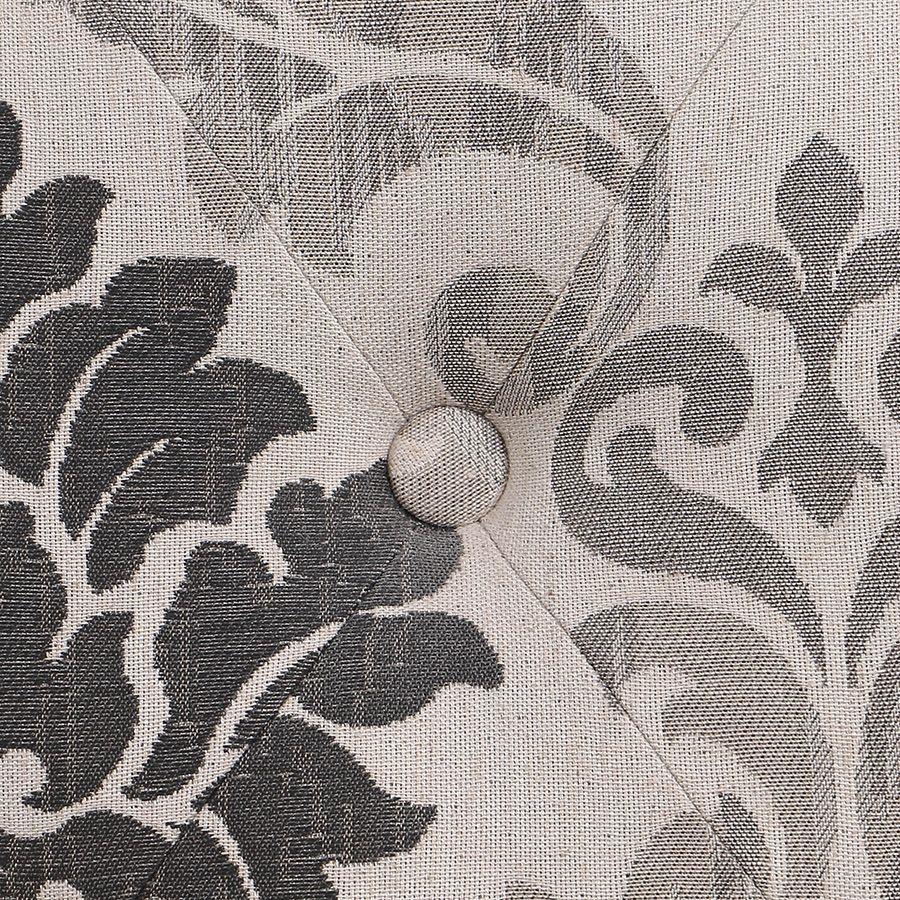 Fauteuil en tissu Arabesque et hévéa massif - Léopold