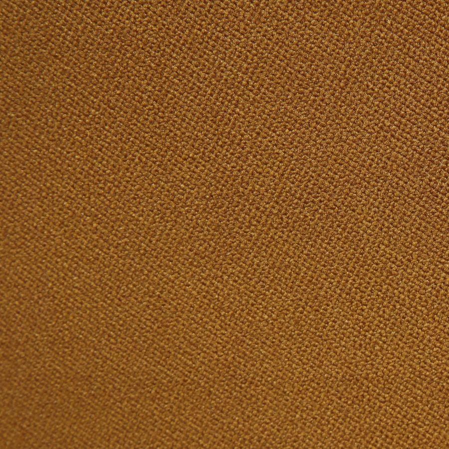 Fauteuil en tissu velours safran et hévéa massif noir - Léopold