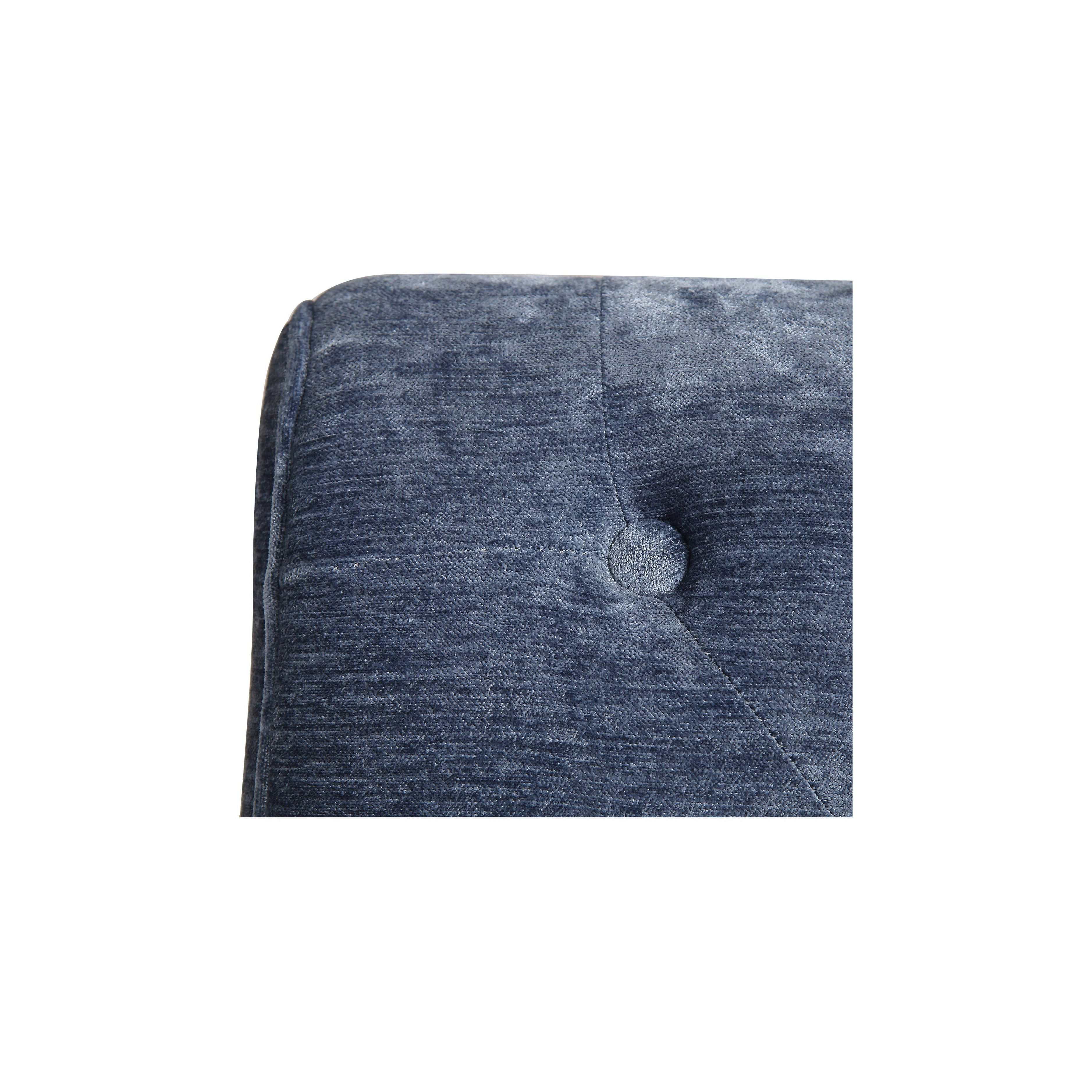 Fauteuil en tissu velours bleu - Léopold