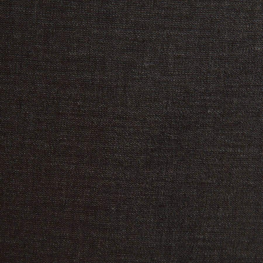 Fauteuil en hévéa noir et tissu gris anthracite - Louis