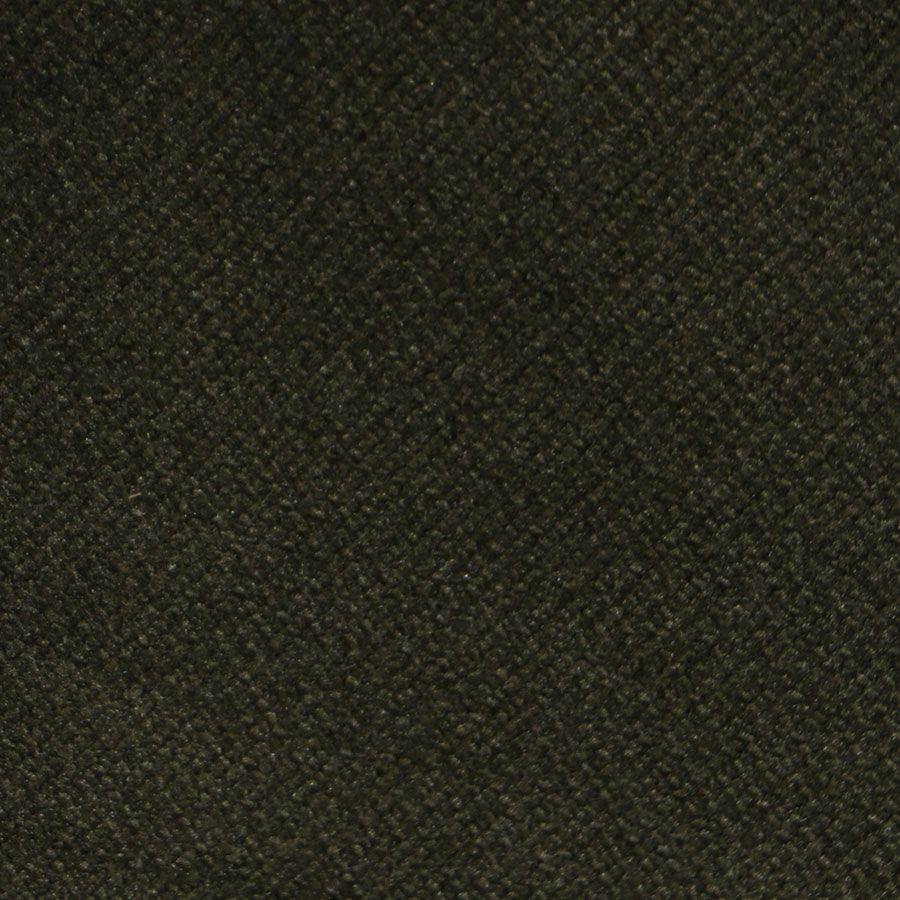 Fauteuil en hévéa noir et velours kaki - Louis