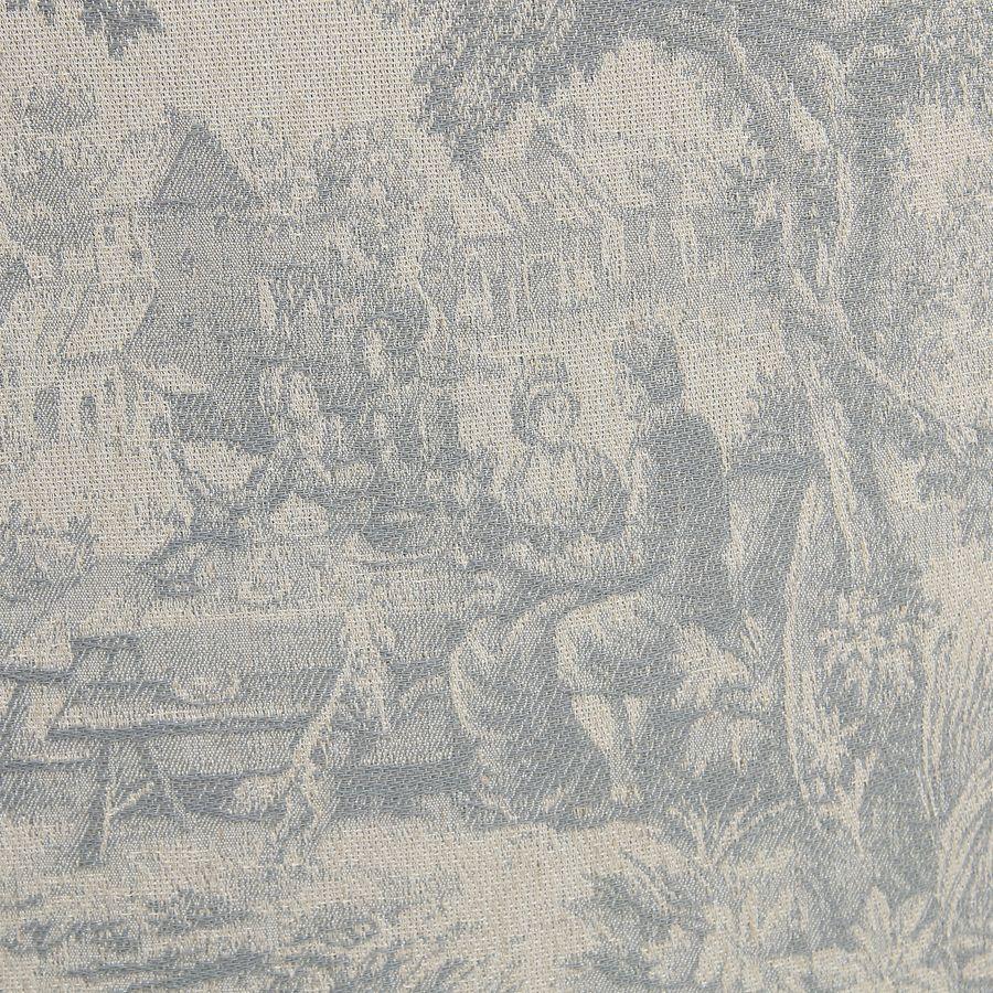Fauteuil cabriolet en hévéa et tissu toile de Jouy - Constant