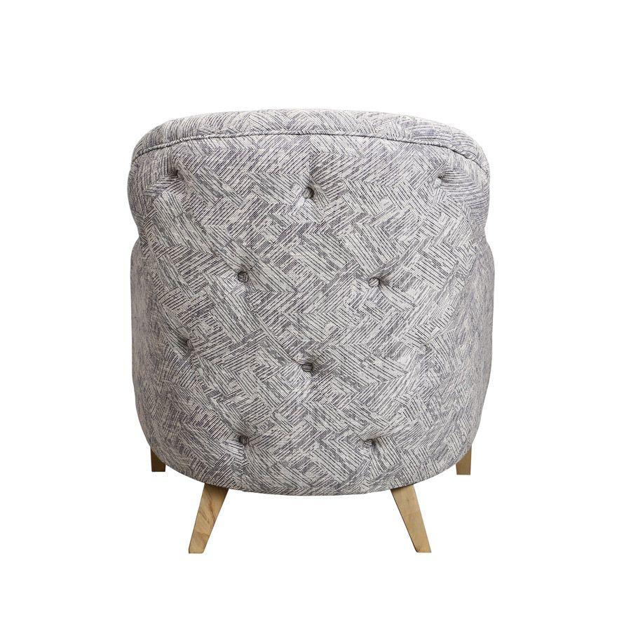 Fauteuil en tissu mosaïque indigo - Oscar
