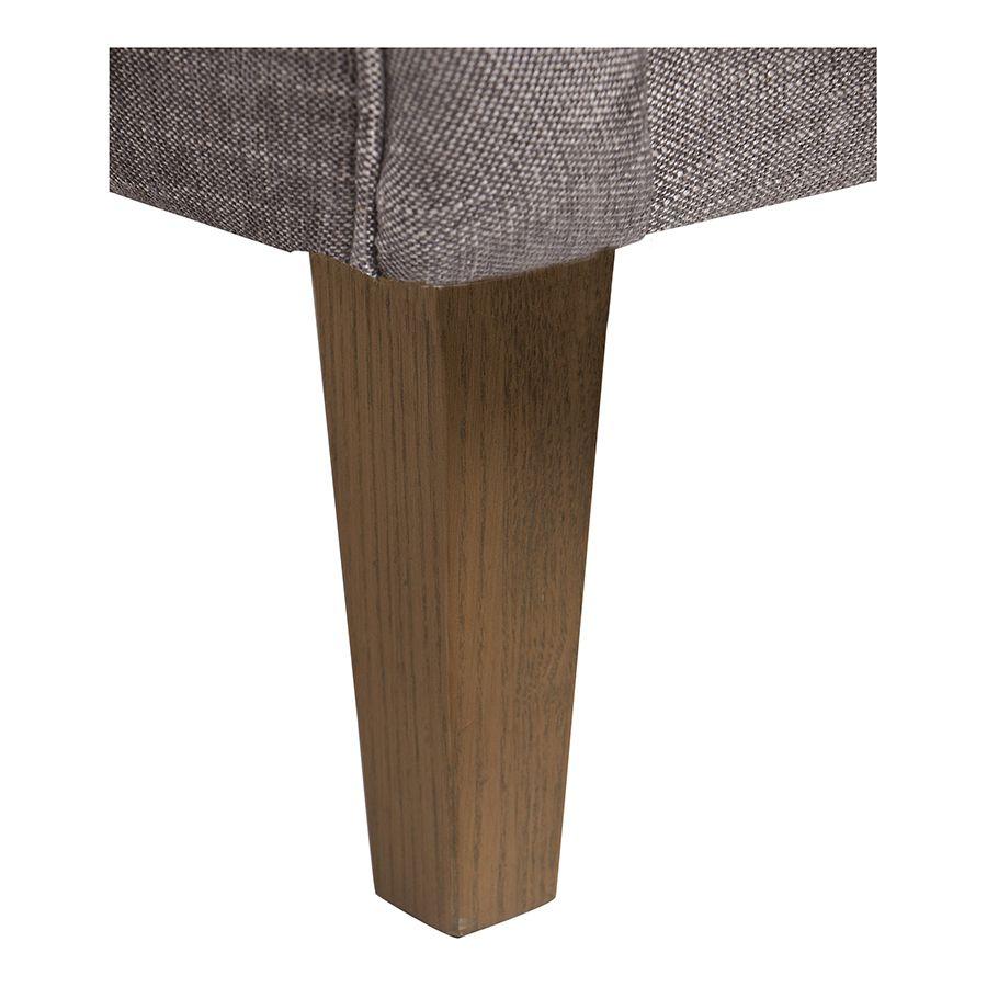 Fauteuil en tissu gris chambray - Oscar