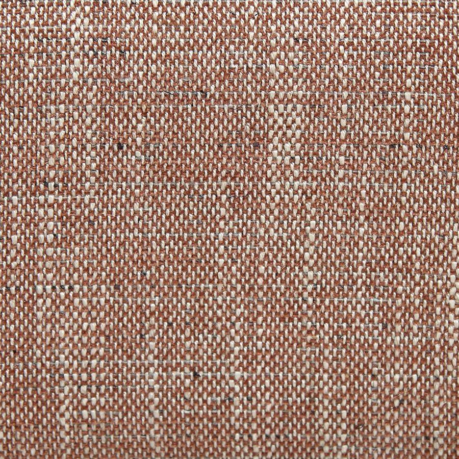 Fauteuil en frêne et tissu orange briqué - Oscar