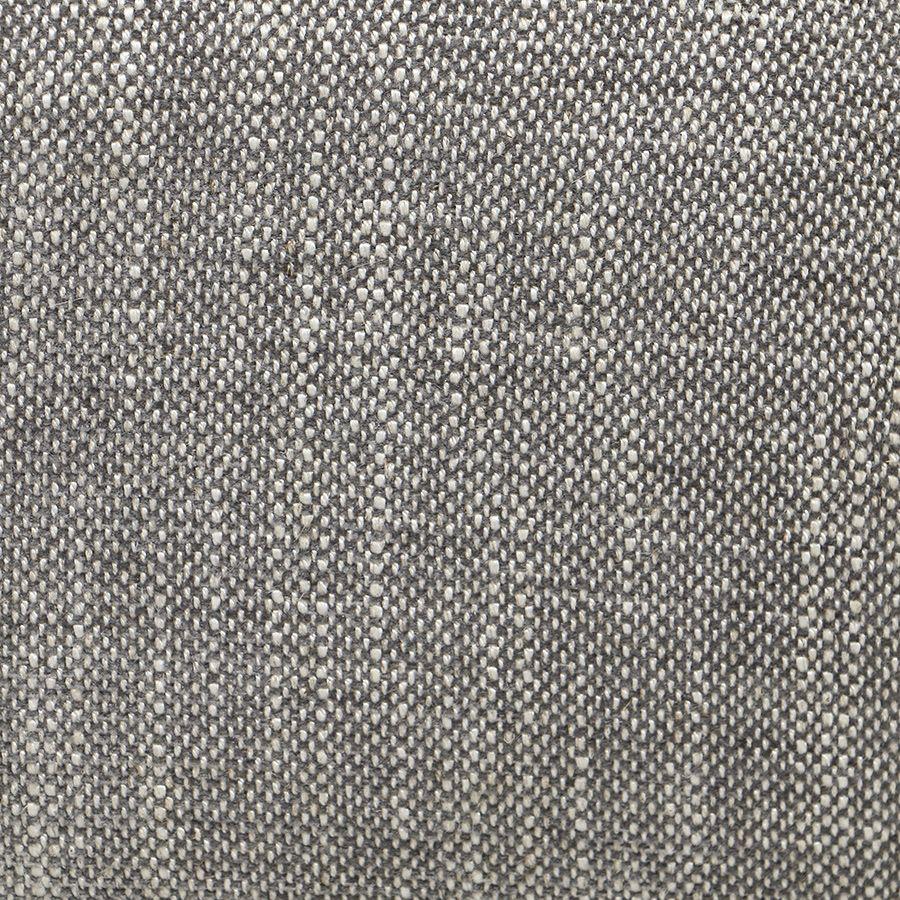 Fauteuil en hévéa blanc et tissu gris chambray - Oscar