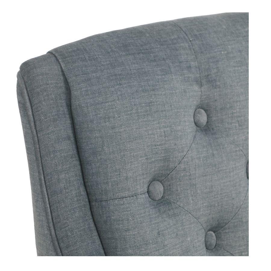 Fauteuil de table en tissu velours vert sauge - Joseph