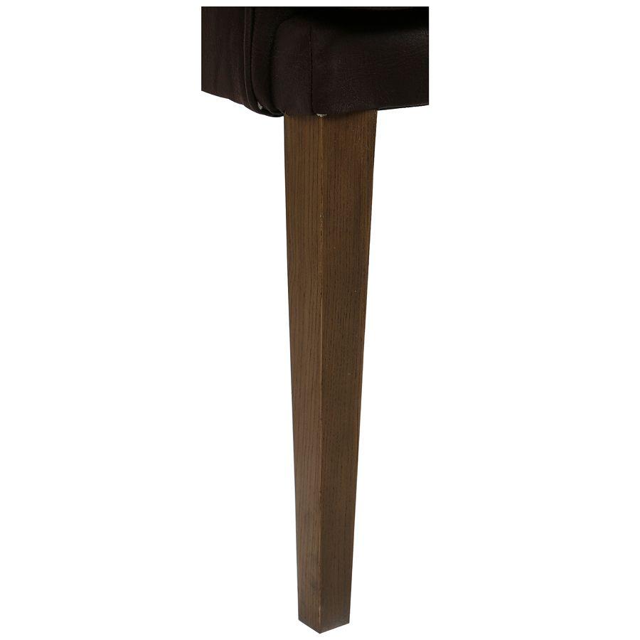 Fauteuil de table en éco-cuir chocolat - Joseph