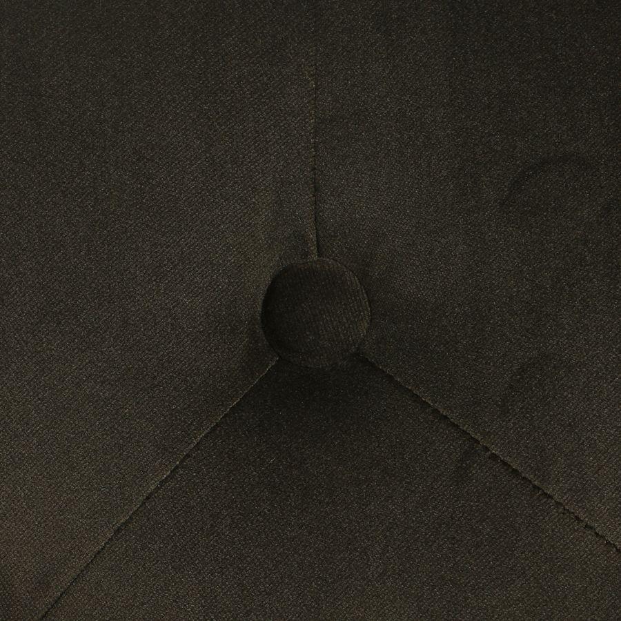 Fauteuil de table en tissu velours kaki - Joseph