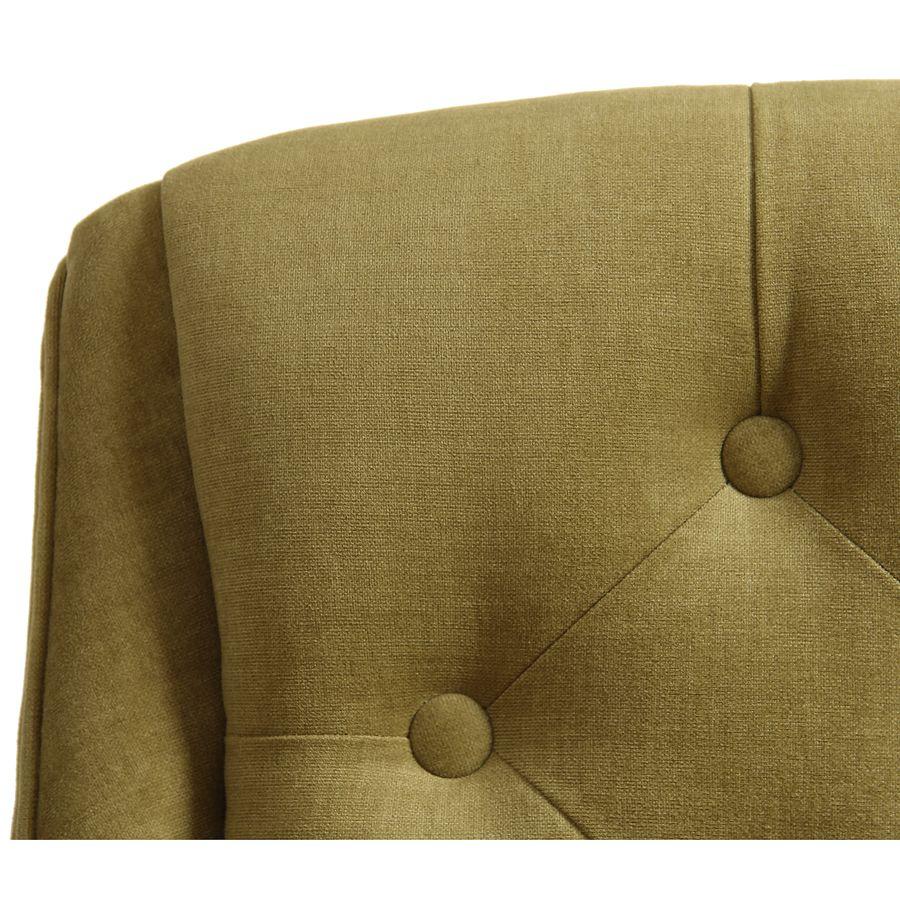 Fauteuil de table en tissu vert vif - Joseph
