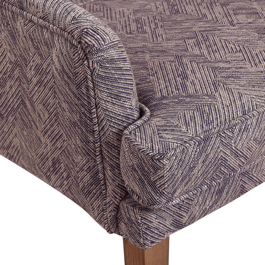 Fauteuil de table en tissu mosaïque indigo - Joseph