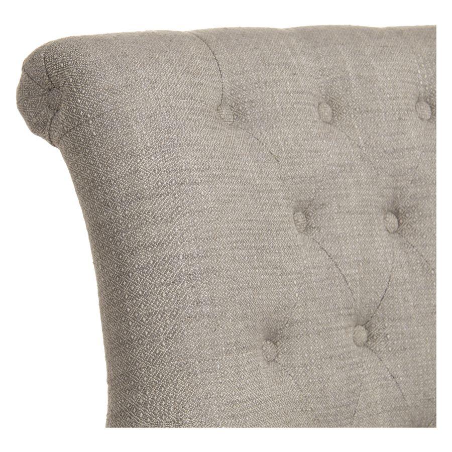 Fauteuil en tissu losange gris et frêne massif - Emile