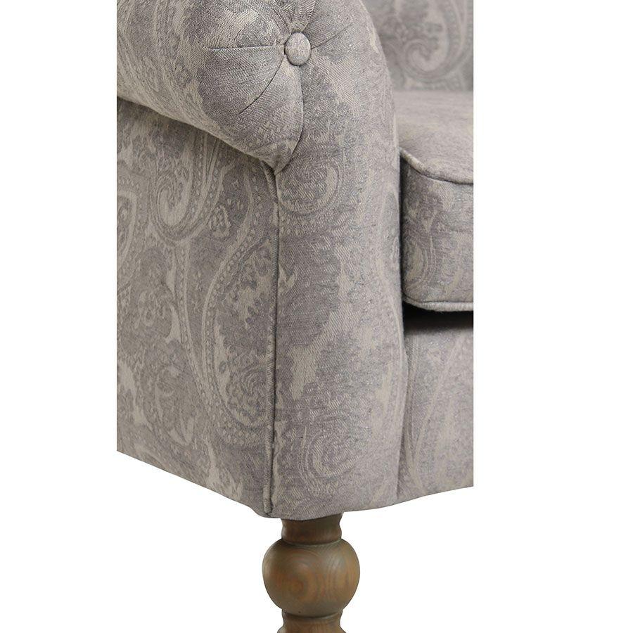Fauteuil en tissu cachemire gris - Emile