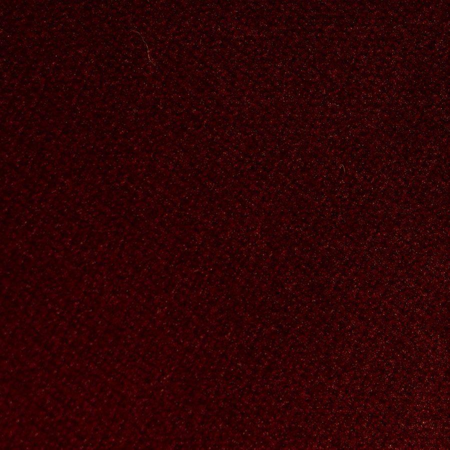 Fauteuil en velours lie de vin et hévéa massif noir - Théodore