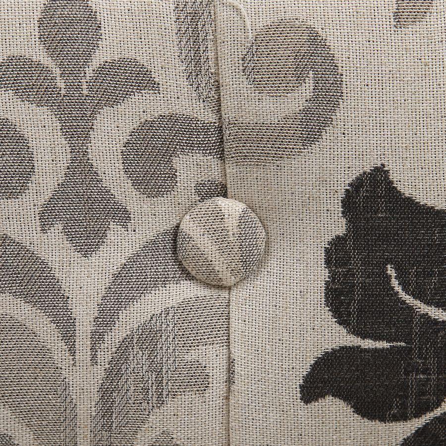 Fauteuil cabriolet en tissu arabesque - Théodore