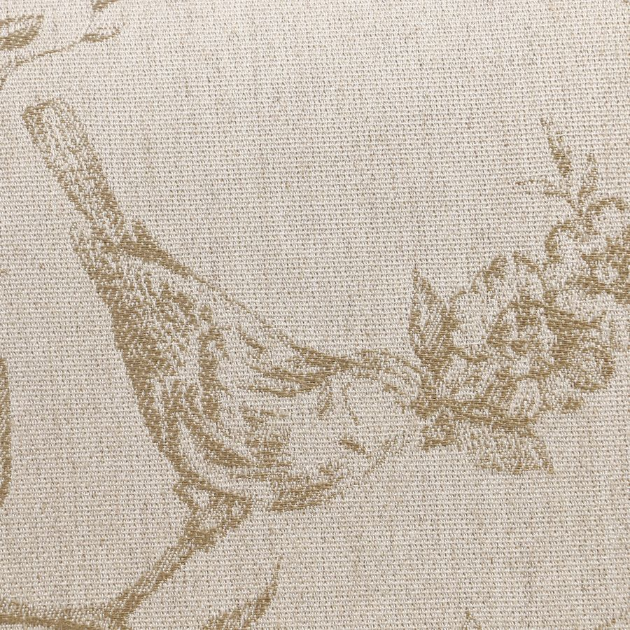 Banc ottoman en tissu paradisier - Gaspard