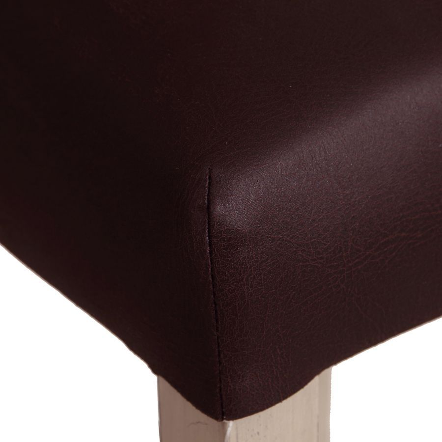 Chaise haute personnalisable en éco-cuir chocolat - Ariane