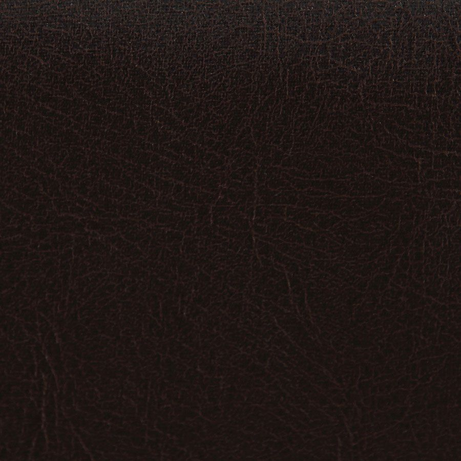 Chaise haute personnalisable en tissu éco-cuir chocolat - Ariane