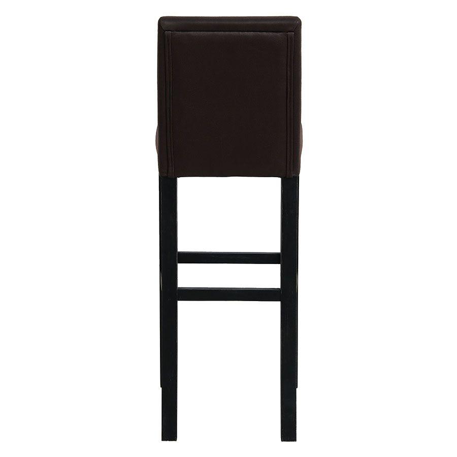 Chaise haute personnalisable en tissu éco-cuir chocolat