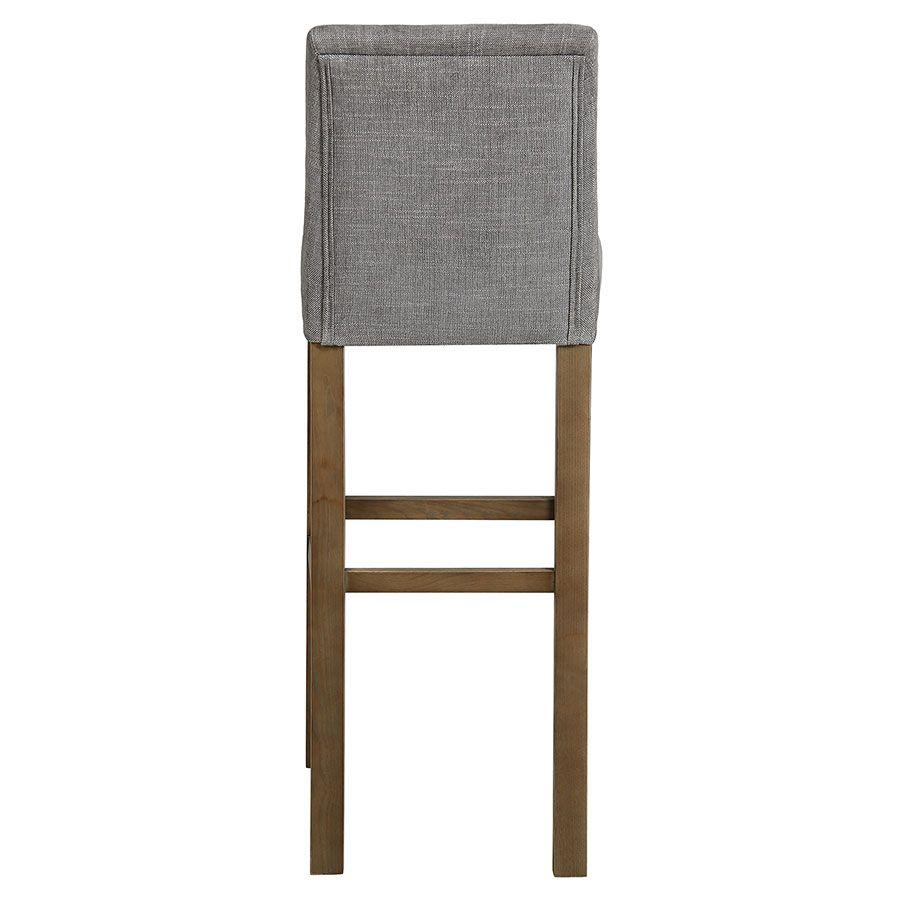 Chaise haute en tissu gris chambray