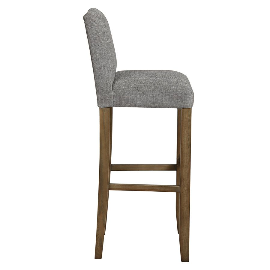 Chaise haute en tissu gris chambray - Ariane