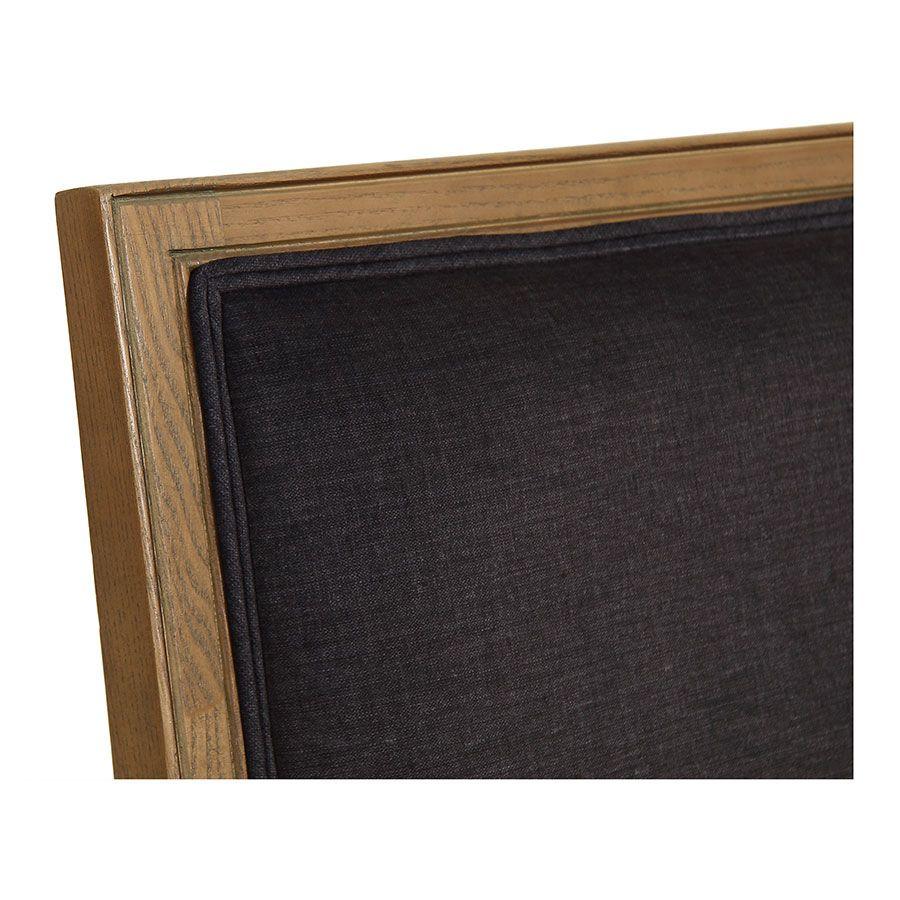 Fauteuil en frêne massif et tissu gris anthracite - Honoré