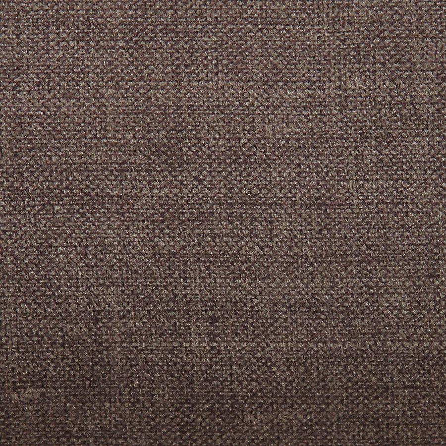 Banquette 3 places en hévéa noir et tissu marron glacé toucher velours - Constance